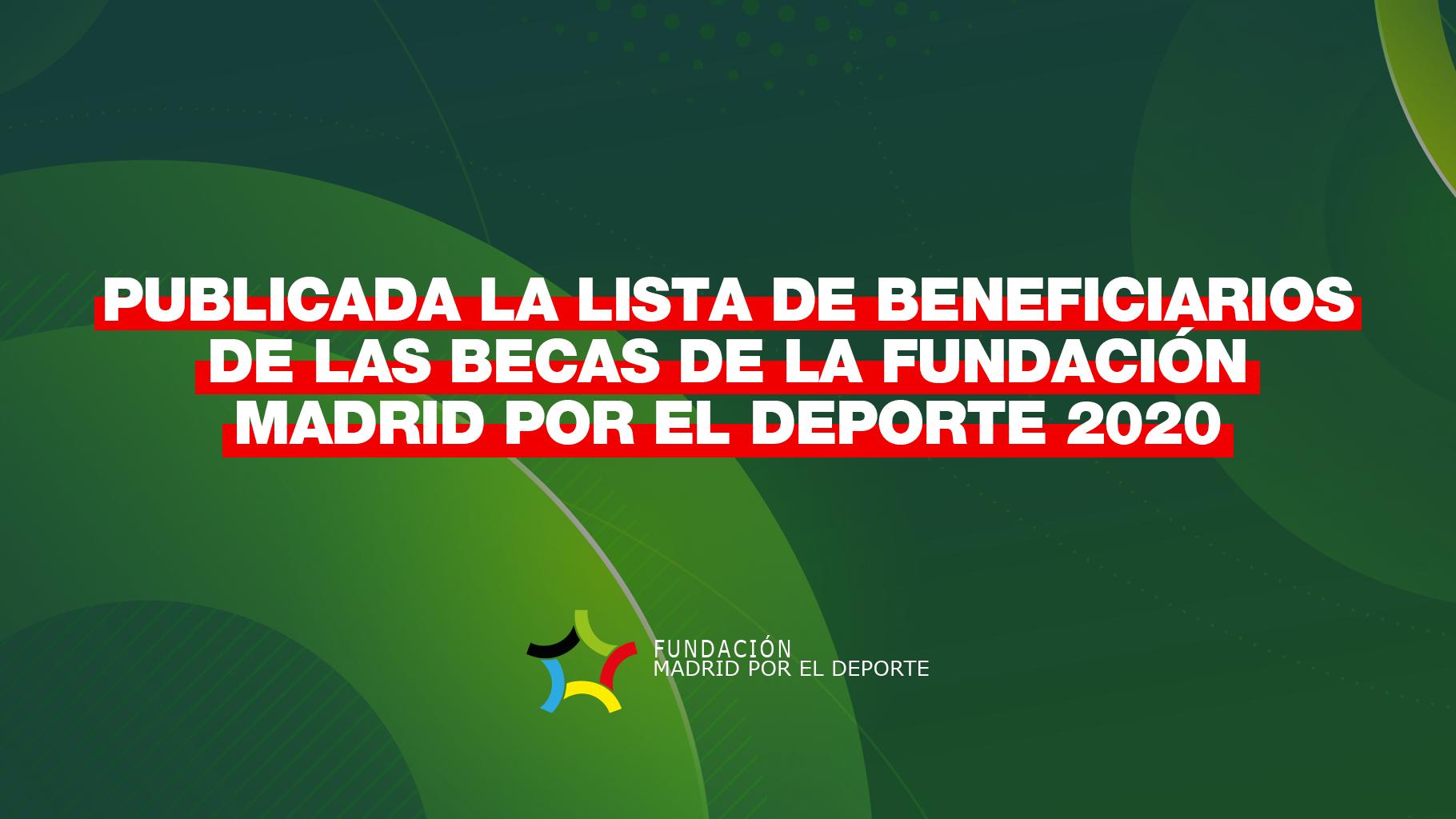 Deportistas Becados 2020 Fundación Madrid por el Deporte