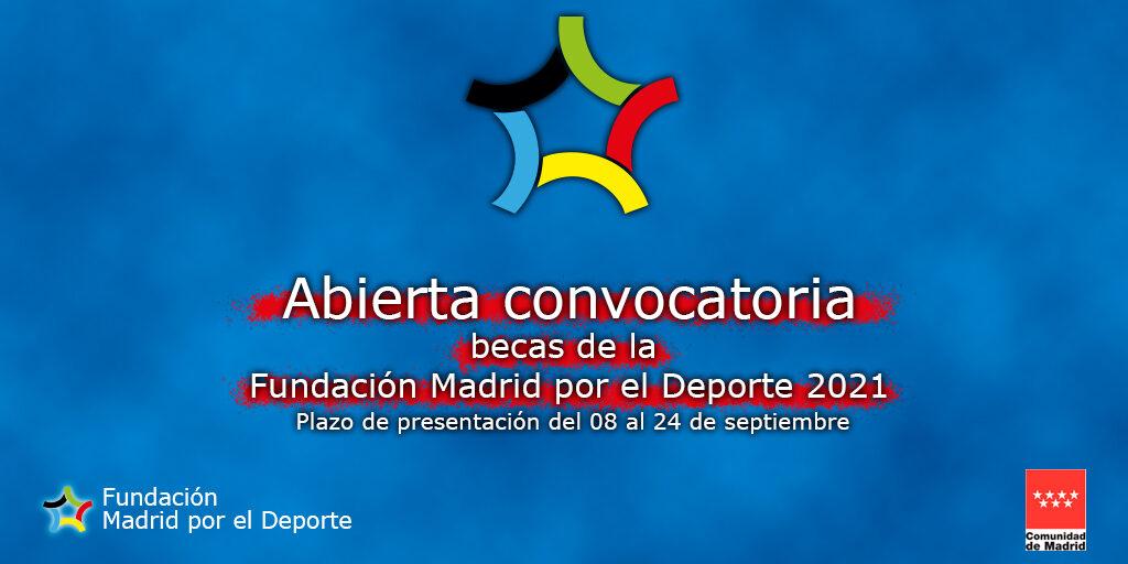 Abierta la solicitud de becas de la Fundación Madrid por el Deporte 2021